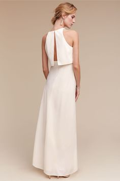 BHLDN Iva Crepe Maxi in  Bride Reception & Rehearsal Dresses | BHLDN
