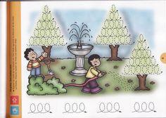 schrijfpatroon tuin, free printable