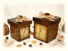 Декупаж - Сайт любителей декупажа - DCPG.RU   Короб для сыпучих продуктов. №2: Набор «Кружевные кексики» #decoupage #handmade #art