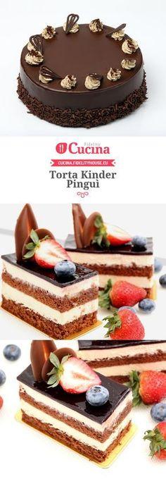 Torta Kinder Pinguì Patisserie Sans Gluten, Italian Cake, Torte Cake, Different Cakes, Paper Cake, Cupcakes, Cakes And More, I Love Food, Cake Recipes