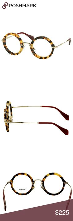 Miu Miu eyeglasses New and authentic  Miu Miu Eyeglasses  Tortoise round frame  Size 45mm Includes original case Miu Miu Accessories Glasses