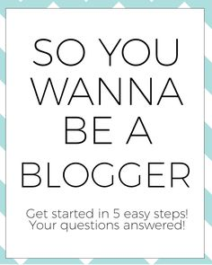 How to Start a Blog on either Wordpress or Blogger - 5 steps to get you started!
