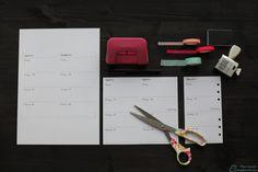Filofax Einlagen einfach selbst gedruckt - http://the-mint-elephant.com/filofax-einlagen-einfach-selbst-gedruckt/149/ - 1 Week 2 pages, 1 Woche auf 2 Seiten, Basteln, DIY, Einlagen, Filofax, Filofaxing, inserts, Kalender, Personal, selbst gedruckt, Stempel, Washi Tape