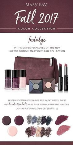 Fall colors are going fast! Looking for the best way to stay on-trend this fall? Dive into the limited edition Mary Kay Fall 2017 color collection. Visit website for your look.