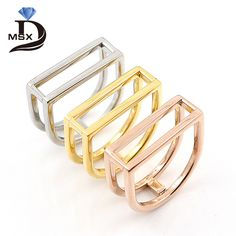 Find More Rings Information about 2017 New Design Stainless Steel Hollow Out U Shape Rings for women White Gold Plated Female Ring Men Fashion Jewelry vintag anel,High Quality steel series mouse pad,China steel ring Suppliers, Cheap steel wire rope clip from JINHUI on Aliexpress.com