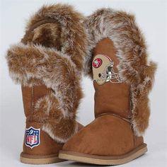 Cuce Shoes San Francisco 49ers Ladies Fanatic Boots - Tan