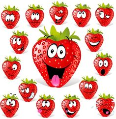 cartoon fruit expression 03 vector