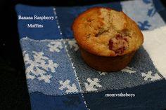 Banana Raspberry Muffins - Mom vs the Boys