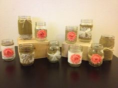Set of 24 Customize Mason Jars for a Wedding by LaceTwineAndBurlap, $139.00
