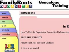 Larry Cragun Family And Genealogy Blog: Be Ye Therefore Organized