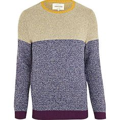 Blue colour block jumper from River Island.