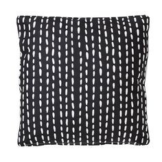 whkmp's own sierkussen (45x45 cm), Wit/zwart/mosterdgeel