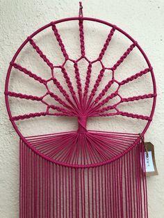Items similar to Pink Macrame Tree Wall Hanging on Etsy Macrame Design, Macrame Art, Macrame Projects, Macrame Knots, Macrame Wall Hanging Patterns, Macrame Patterns, Diy Dream Catcher Tutorial, Feather Wall Decor, Yarn Wall Art