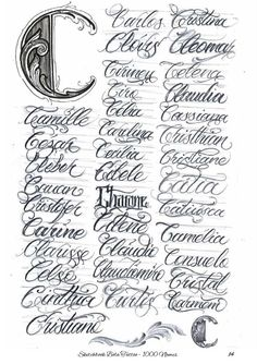Tattoo Fonts Alphabet, Tattoo Fonts Cursive, Word Fonts, Hand Lettering Alphabet, Tattoo Script, Tattoo Lettering Styles, Chicano Lettering, Graffiti Lettering Fonts, Script Lettering