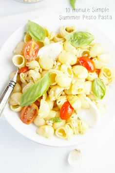 Simple Summer Pesto Pasta  | www.bellalimento.com