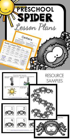Spider Theme Preschool Classroom Lesson Plans Preschool