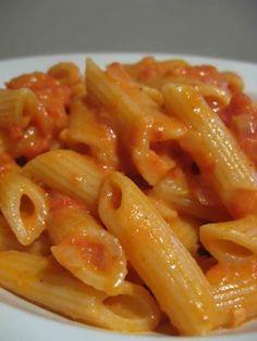 pasta and vodka.  perfect.