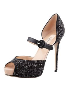 Valentino Microstud Mary Jane Heels