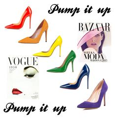 """""""Pump it up"""" by flymommy on Polyvore featuring Christian Louboutin, Gucci, Gianvito Rossi, Fiorangelo, SJP, Bela, women's clothing, women, female and woman"""