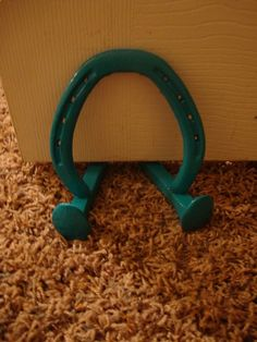 Handpainted Lucky Horse Shoe Door Stop Rustic by OkieArtShack
