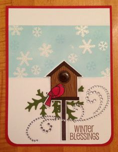 Winter Blessings Christmas Card