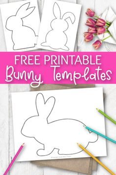 Easter Bunny Template, Bunny Templates, Easter Templates, Templates Printable Free, Free Easter Printables, Easter Bunny Colouring, Bunny Coloring Pages, Coloring Sheets, Easter Projects