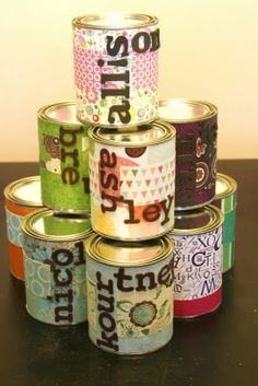 """I loved this little poem by John Wesley. I made a copy for each girl and put it in their """"can"""". I bought these quart sized empty paint c. Activity Day Girls, Activity Days, Creative Gift Wrapping, Creative Gifts, Chocolate Gold Coins, Banner Online, Cute Scrapbooks, Becky Higgins, Little Things Quotes"""