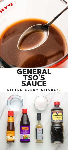 Use this rich, sweet, and spicy General Tso's sauce to make a delicious stir fry on a busy weeknight. #generaltsosauce #generaltsochicken Hoisin Sauce, Marinade Sauce, Teriyaki Sauce, Soy Sauce, Chinese Sauce Recipe, Chinese Stir Fry Sauce, Asian Recipes, Oriental Recipes, Chinese Recipes