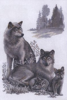 Wolves Cross Stitch Kit By Riolis