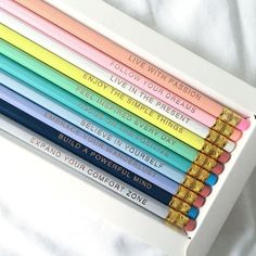 We're excited to launch The Happiness Plannerpencils with words of inspiration to help keep you inspired and motivated every day. Features ; 10 Hexagonepenci