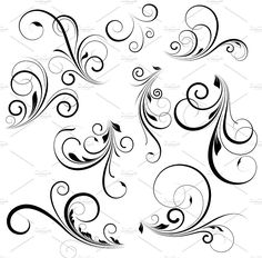 Vector Swirls by TrueMitra Designs on @creativemarket