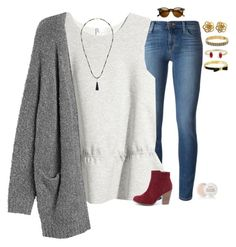 """""""•what up•"""" by mgpayne10 ❤ liked on Polyvore featuring J Brand, H&M, Monki, Sole Society, Breckelle's, Kate Spade, Kendra Scott, Fresh, women's clothing and women's fashion"""