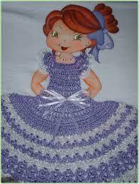 Resultado de imagem para croche vestido boneca pano de prato Different Patterns, Cinderella, Disney Characters, Fictional Characters, Disney Princess, Crochet Tutorials, Image, Dish Towels, Crochet Clothes
