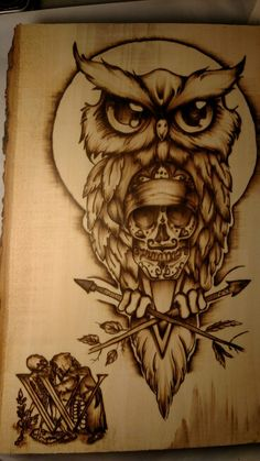 Replace Arrows with Skeleton Key and Paint Brush--- Sugar skull owl Sugar Skull Sleeve, Sugar Skull Owl, Owl Dream Catcher, Dream Catcher Tattoo, Love Tattoos, Girl Tattoos, Owl Skeleton, Sugar Candy Skulls, Owl Tat