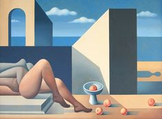 """Mario Carreño (1913-1999) """"Encounter by the Sea"""
