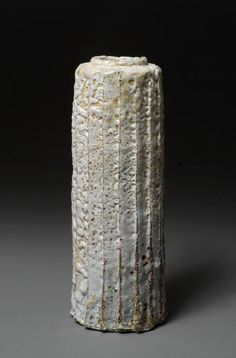 Artist: Hans Vangso, Title: Tall Fluted Vessel White - click for larger image
