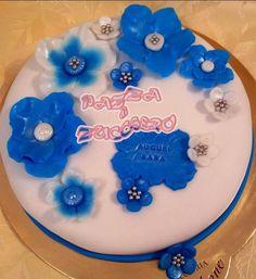 Blue fantasy flowers