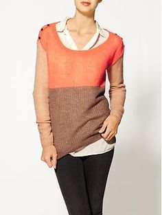 Splendid Color Block Sweater | Piperlime