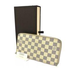 340b404a5e5b Louis Vuitton Louis Vuitton Damier Azur Long Zippy Organizer Zip-Around  Wallet w  Checkbook