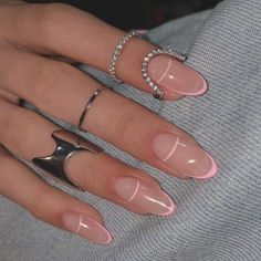 Minimalist Nails, Aycrlic Nails, Hair And Nails, Glitter Nails, Blush Nails, Stiletto Nails, Stylish Nails, Trendy Nails, Fancy Nails