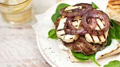 Greek lamb and haloumi burgers