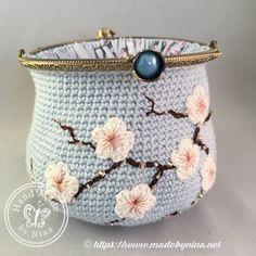 Blue Cherry Blossom Card Purse   Etsy