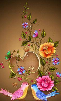 Bird Wallpaper Backgrounds Ideas For 2019 Flower Background Wallpaper, Flower Phone Wallpaper, Heart Wallpaper, Butterfly Wallpaper, Cellphone Wallpaper, Flower Backgrounds, Colorful Wallpaper, Colorful Backgrounds, Love Wallpaper Backgrounds