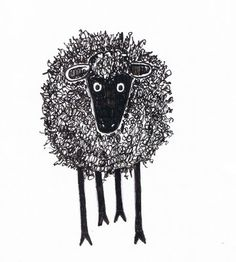 Critter Soup Animal Drawing made easy: Easy to Draw Silly Scribble Sheep Sheep Drawing, Sheep Illustration, Sheep Crafts, Sheep Art, Sheep And Lamb, Inspiration Art, Oeuvre D'art, Easy Drawings, Animal Drawings