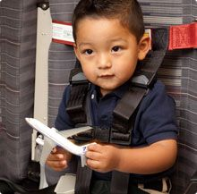 CARES is an FAA-approved five-point harness that enables toddlers to safely sit big-kid style in an airplane seat.