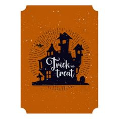 #party - #Halloween Trick Or Treat House | Invitation