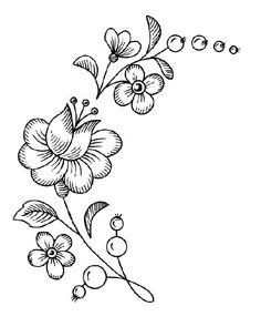 It's pretty – Embroidery Desing Ideas Embroidery Flowers Pattern, Hand Embroidery Designs, Crewel Embroidery, Flower Patterns, Feuille Aluminium Art, Beautiful Flower Drawings, Parchment Craft, Brazilian Embroidery, Flower Doodles