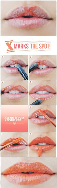 STEPS:  Start at the right peak of your cupid's bow and draw a diagonal line downwards with t...