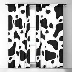 Cow Hide Blackout Window Curtains & Drapes by The Wellington Boot - x - Set of Two