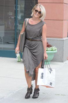 Julianne Hough in a draped AllSaints dress